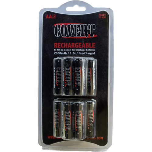 Covert Scouting Cameras Rechargeable NiMH AA Batteries (12-Pack)