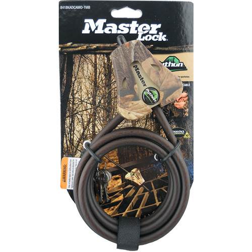 "Covert Scouting Cameras 5/16"" Master Lock Python Security Cable (Case of 4, Keyed Alike, Camo)"