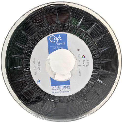 CraftBot 1.75mm PET-G Filament (1kg, Black)