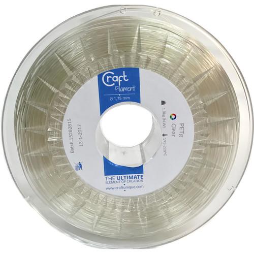 CraftBot 1.75mm PET-G Filament (1kg, Transparent)