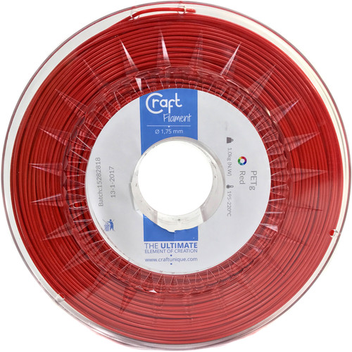 CraftBot 1.75mm PET-G Filament (1kg, Red)