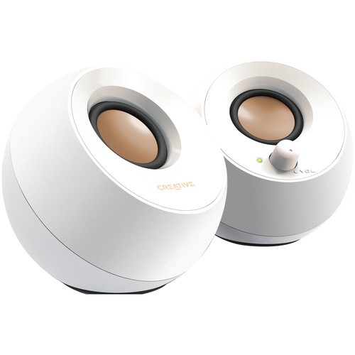 Creative Labs Creative Pebble USB 2.0 Desktop Speakers (White)
