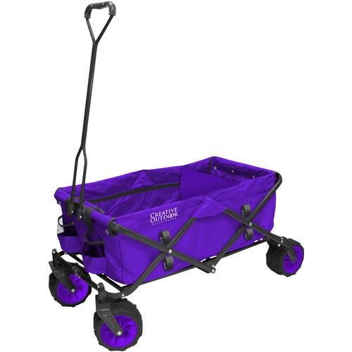 Creative Outdoor Distributor Big Wheel All-Terrain Wagon (Purple)