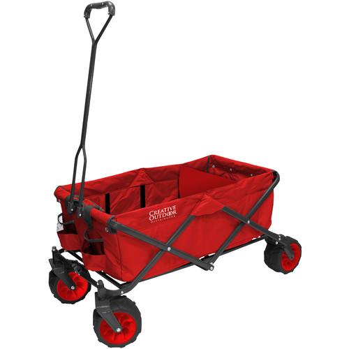Creative Outdoor Distributor Big Wheel All-Terrain Wagon (Red)