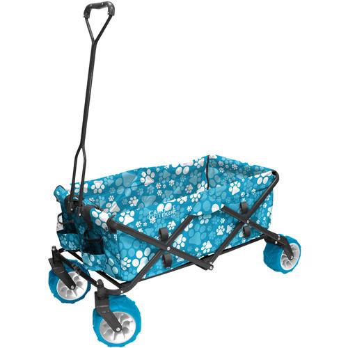 Creative Outdoor Distributor Big Wheel All-Terrain Cooler Wagon (Blue Paw Print)