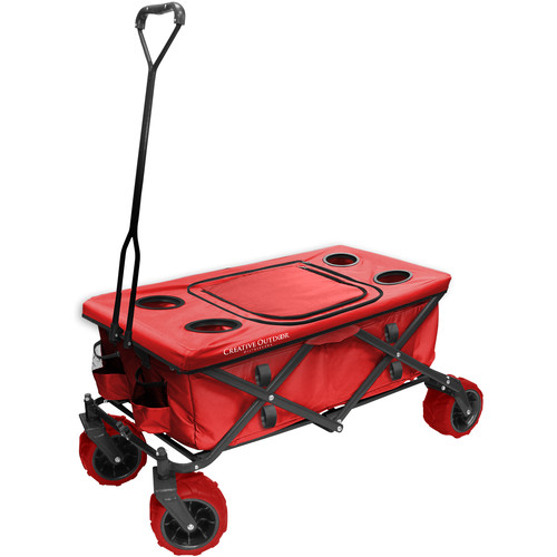 Creative Outdoor Distributor Big Wheel All-Terrain Cooler Wagon (Red)