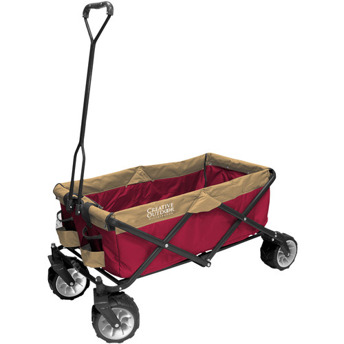 Creative Outdoor Distributor Big Wheel All-Terrain Wagon (Red/Gold)