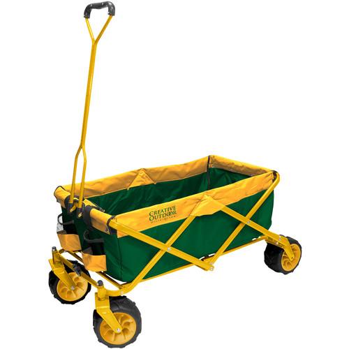 Creative Outdoor Distributor Big Wheel All-Terrain Wagon (Green/Yellow)