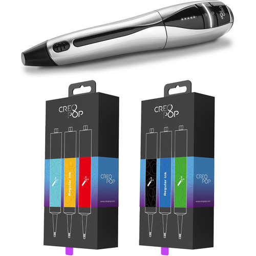 CreoPop 3D Pen (Starter, Black/Silver)