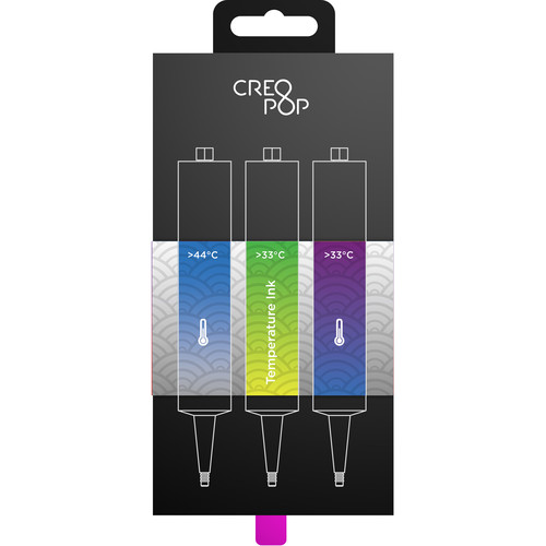CreoPop Temperature Sensitive Ink 3-Pack (Blue, Bright Green, Purple)