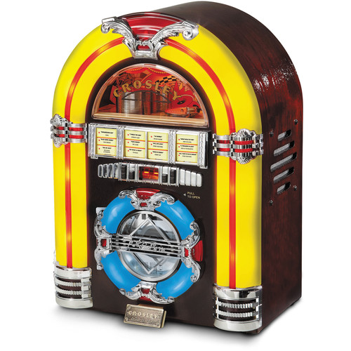 Crosley Radio CR1101A-CH Jukebox CD with AM/FM Radio (Cherry)