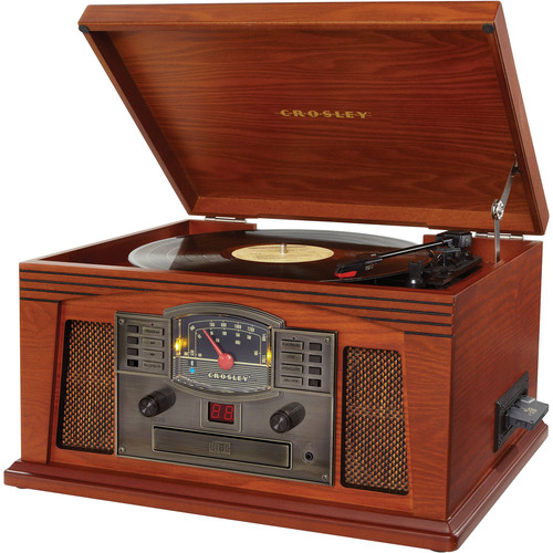 Crosley Radio Lancaster Entertainment Center with Bluetooth