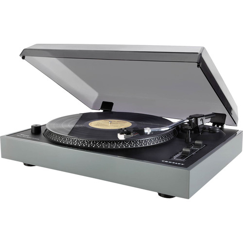 Crosley Radio Advance Turntable with Pitch Control, USB, and Recording Software (Gray)