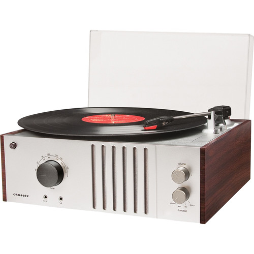 Crosley Radio Player Turntable with AM/FM Radio and Portable Audio Input