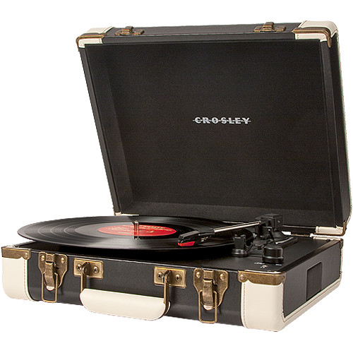 Crosley Radio Executive Portable Turntable with USB and Recording Software (Black)