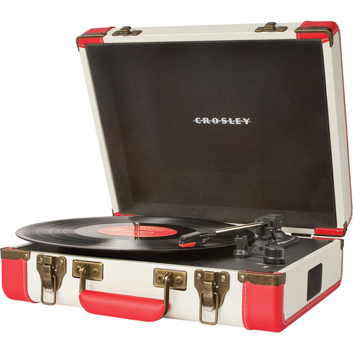 Crosley Radio Executive Portable Turntable with USB and Recording Software (Red)