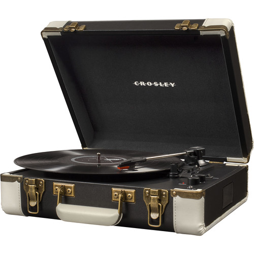 Crosley Radio Executive 3-Speed Turntable with Bluetooth and Pitch Control (Black)