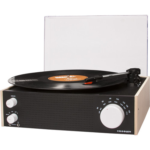 Crosley Radio 3-Speed Switch Turntable with AM/FM Radio and Bluetooth (Natural)