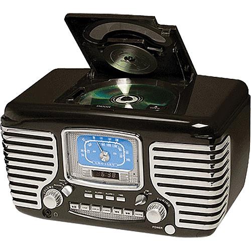 Crosley Radio CR612 Corsair Clock Radio (Black)