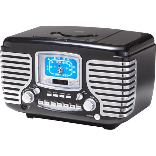 Crosley Radio Corsair AM/FM Bluetooth Radio with Alarm Clock (Black)