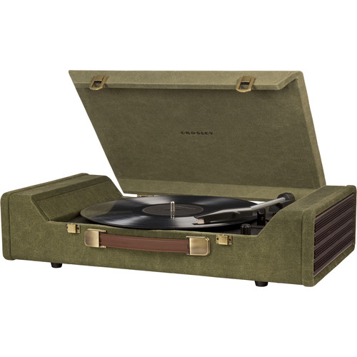 Crosley Radio Nomad Portable Turntable with USB and Recording Software (Green)