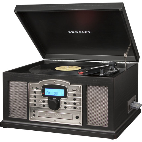 Crosley Radio Troubadour 3-Speed Turntable with Bluetooth (Black)