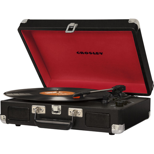 Crosley Radio Cruiser Deluxe Portable Turntable (Black)