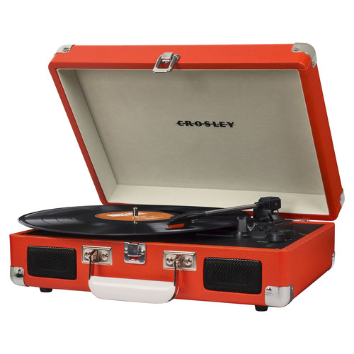 Crosley Radio Cruiser Deluxe Portable Turntable (Orange)