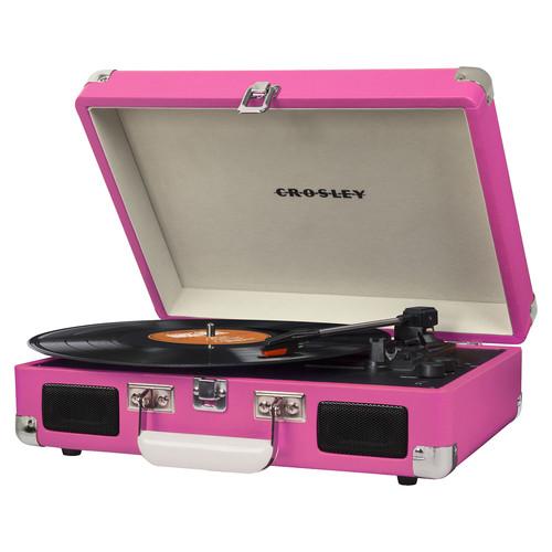 Crosley Radio Cruiser Deluxe Portable Turntable (Pink)