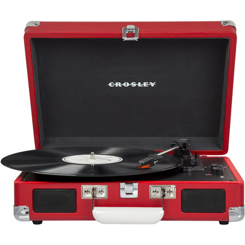 Crosley Radio Cruiser Deluxe Portable Turntable (Red)