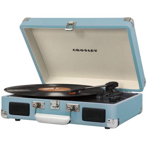 Crosley Radio Cruiser Deluxe Portable Turntable (Turquoise)