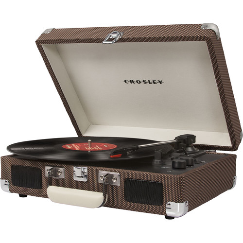 Crosley Radio Cruiser Deluxe Portable Turntable (Tweed)