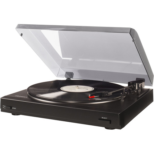 Crosley Radio T200A 2-Speed Turntable (Black with Blue Lid)