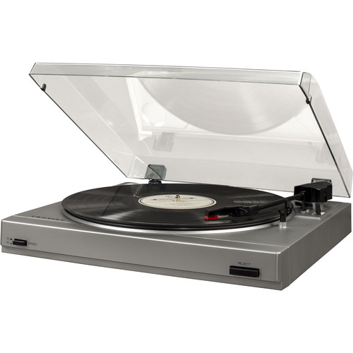 Crosley Radio T200A 2-Speed Turntable (Silver with Charcoal Lid)