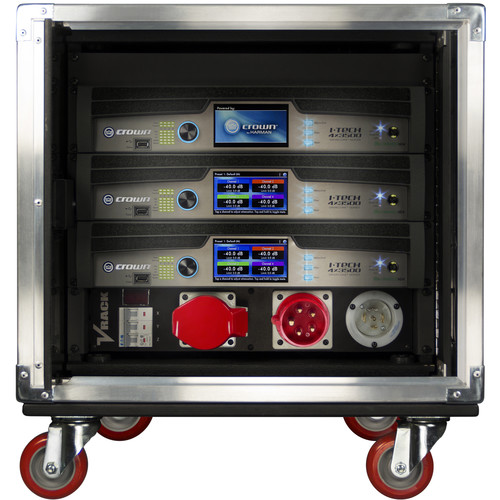Crown Audio Complete HD4 VRACK with 3 - 4X3500HD Amplifiers, Rack, Power Distribution, and I/O