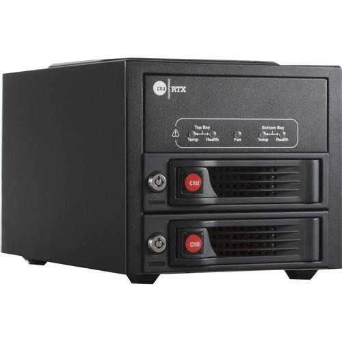 CRU-DataPort RTX220-3QJ 2-Bay Hard Drive Enclosure (USB 3.1 Gen 1 / eSATA / FireWire 800)