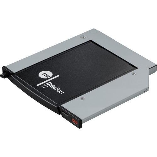 CRU-DataPort Complete DP27 Assembly for Flat Bezzled Computers (Push-Button Release, Black)
