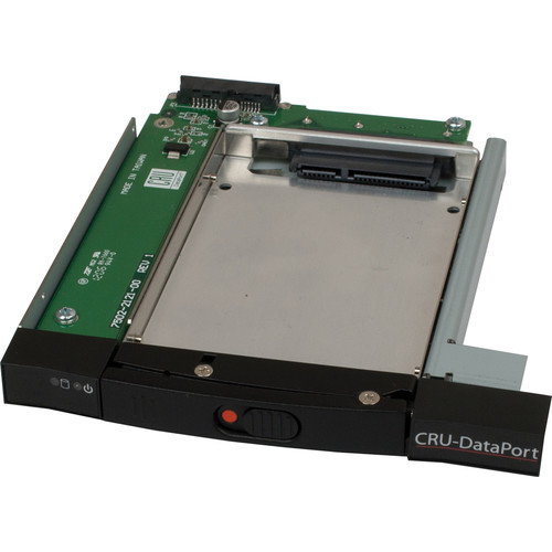 "CRU-DataPort DataPort 21 6 Gb/s 2.5"" SATA Removable Frame & Sled Enclosure (Black)"