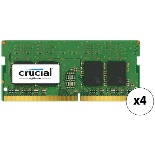 Crucial 64GB DDR4 2133 MHz SO-DIMM Memory Kit (4 x 16GB)