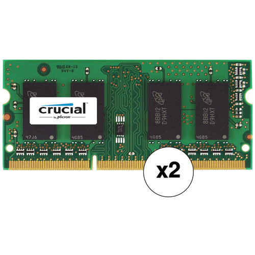 Crucial 16GB (2 x 8GB) 204-Pin SODIMM DDR3 PC3-14900 Memory Module Kit