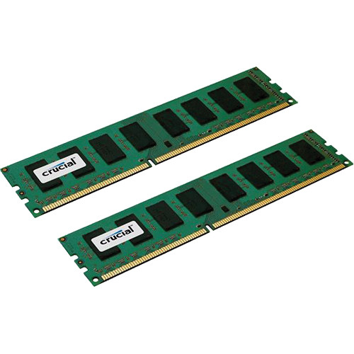 Crucial 8GB (2x4GB) 240-Pin DIMM DDR3 PC3-8500 Memory Modules