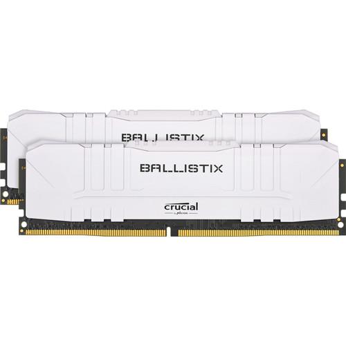 Crucial 16GB Ballistix DDR4 3600 MHz UDIMM Gaming Desktop Memory Kit (2 x 8GB, White)