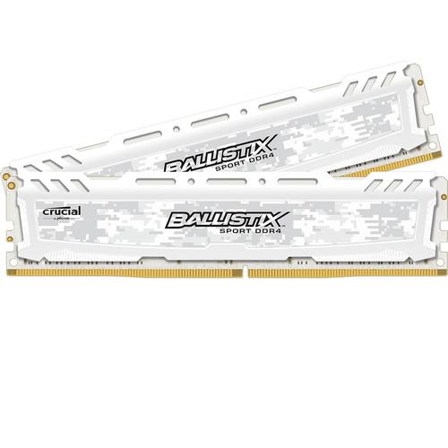 Ballistix 32GB Ballistix Sport DDR4 2400 MHz UDIMM Memory Module Kit (2 x 16GB, White)