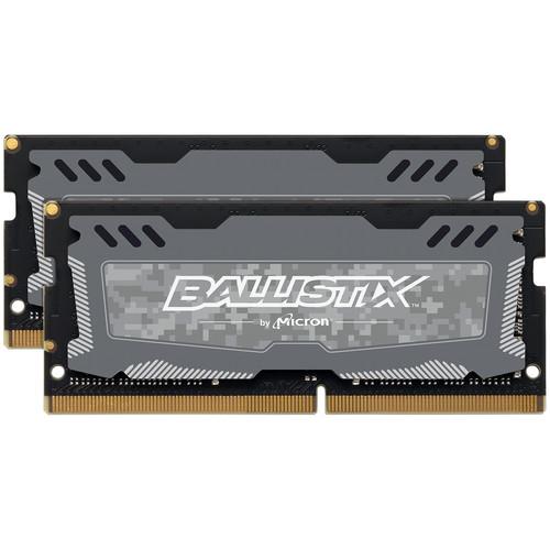 Ballistix LT 32GB DDR4 2666 MHz SODIMM Memory Kit (2 x 16GB)