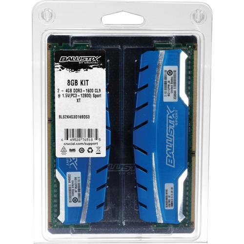 Ballistix 8GB Ballistix Sport DDR3 1600 MHz UDIMM Memory Module Kit (2 x 4GB)