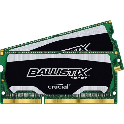 Crucial 8GB Ballistix Sport DDR3 1600 MHz SODIMM Memory Module Kit (2 x 4GB)