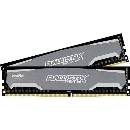 Crucial 8GB Ballistix Sport DDR4 2400 MHz UDIMM Memory Module Kit (2 x 4GB)