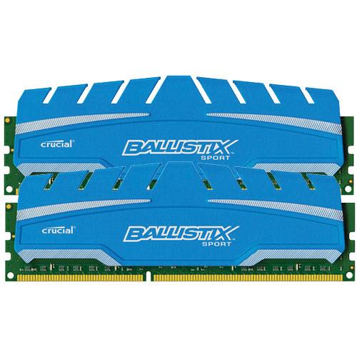Crucial 16GB Ballistix Sport DDR3 1866 MHz UDIMM Memory Module Kit (2 x 8GB)