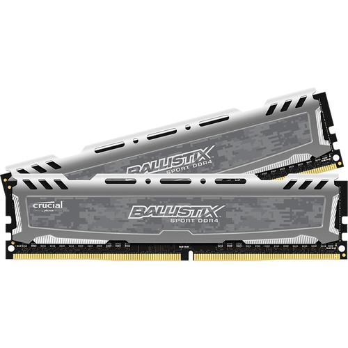 Crucial 16GB Ballistix Sport DDR4 2400 MHz UDIMM Memory Module Kit (2 x 8GB)