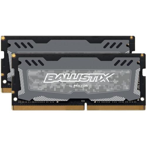Ballistix 16GB Sport LT Series DDR4 2666 MHz SO-DIMM Memory Kit (2 x 8GB)